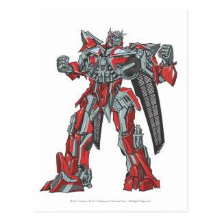Sentinel Prime Line Art 1 Postcard