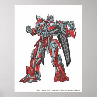 Sentinel Prime Line Art 1 Poster