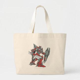 Sentinel Prime Line Art 2 Jumbo Tote Bag
