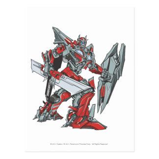 Sentinel Prime Line Art 2 Postcard