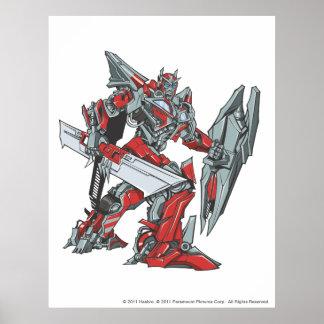 Sentinel Prime Line Art 2 Poster