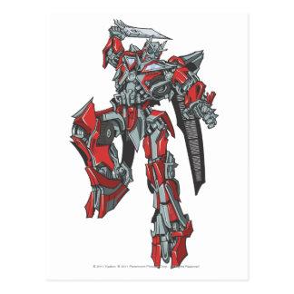 Sentinel Prime Line Art 3 Postcard