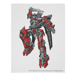 Sentinel Prime Line Art 3 Poster