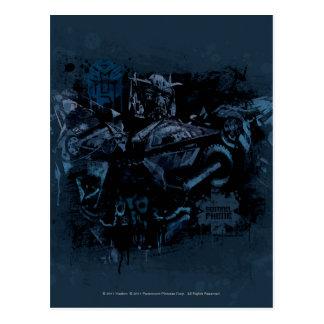 Sentinel Prime Stylized Paint Postcard