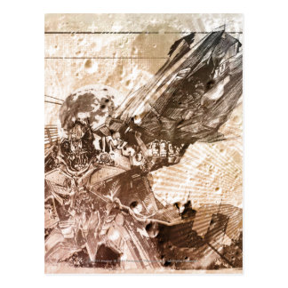 Sentinel Prime Stylized Sketch Texture Postcard