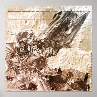 Sentinel Prime Stylized Sketch Texture Print