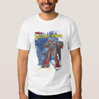 Sentinel Prime TF3 Badge Blue/Yellow T Shirt