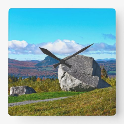 Sentinel Rock State Park, Westmore, Vermont Square Wall Clock