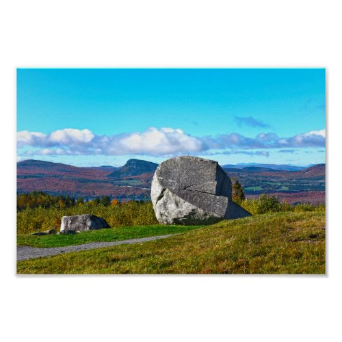 Sentinel Rock, Westmore, Vermont Poster