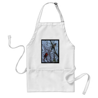 Sentinels Blue Jay and Cardinal by Lee Hiller Adult Apron