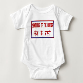 Sentinels of the Border, Traffic Sign, India Baby Bodysuit