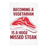 Sentir bien a un vegetariano es un filete faltado  papeleria