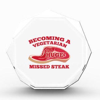 Sentir bien a un vegetariano es un filete faltado