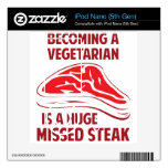 Sentir bien a un vegetariano es un filete faltado  skin para el iPod nano 5G