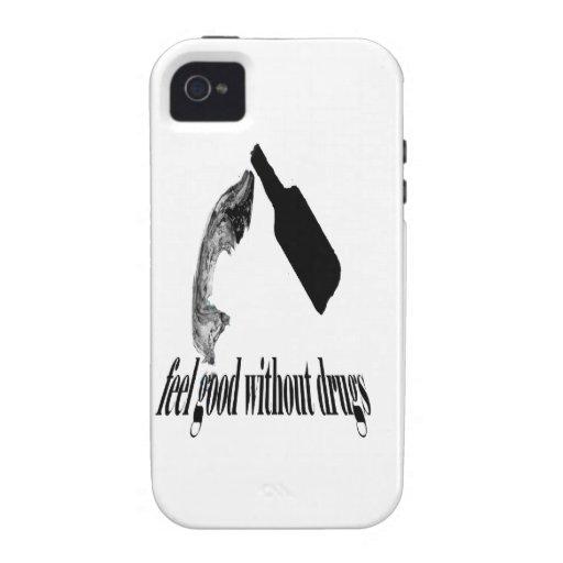 Sentir bien sin las drogas iPhone 4 funda