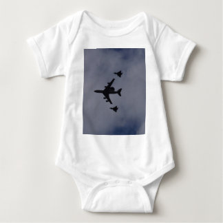 Sentry Escorted By Typhoons Baby Bodysuit