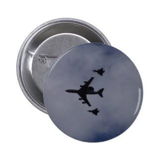 Sentry Escorted By Typhoons Pinback Button