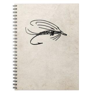 Señuelo abstracto de la mosca mojada cuadernos