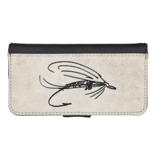 Señuelo abstracto de la mosca mojada funda billetera para teléfono