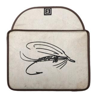 Señuelo abstracto de la mosca mojada funda macbook pro