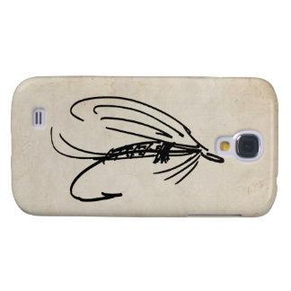 Señuelo abstracto de la mosca mojada funda samsung s4