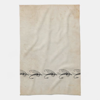 Señuelo abstracto de la mosca mojada toalla de cocina
