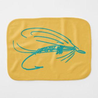Señuelo abstracto de la mosca mojada paños para bebé