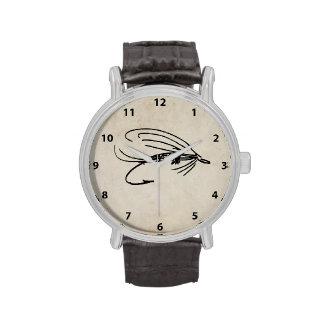 Señuelo abstracto de la mosca mojada relojes de pulsera