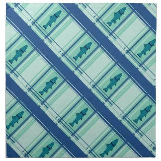 Señuelo abstracto de la mosca mojada servilletas imprimidas