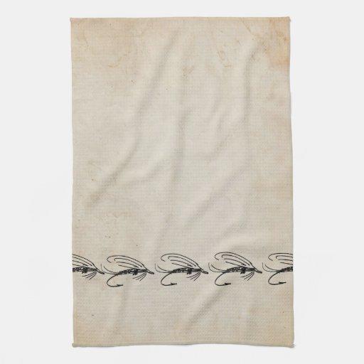 Señuelo abstracto de la mosca mojada toalla