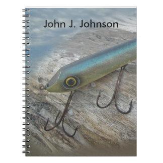 Señuelo antiguo de la pesca de Slapper de la Note Book