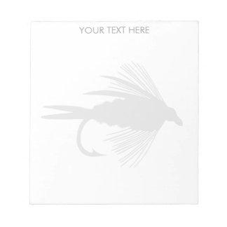 Señuelo de la pesca con mosca a personalizar bloc de papel