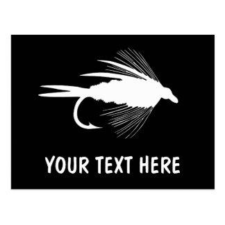 Señuelo de la pesca con mosca a personalizar tarjetas postales