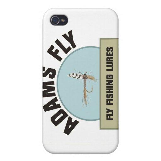 Señuelo de la pesca con mosca de Adams iPhone 4 Carcasas