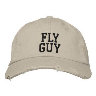 Señuelo de la pesca con mosca del individuo de la  gorra bordada