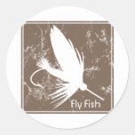 Señuelo de la pesca con mosca pegatina redonda