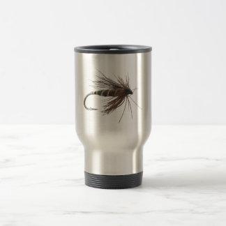 Señuelo de la pesca con mosca taza de viaje de acero inoxidable