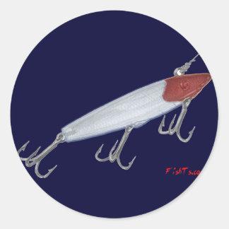 Señuelo de la pesca de la lubina. Señuelo de Pegatina Redonda