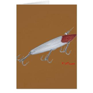 Señuelo de la pesca de la lubina. Señuelo de Topwa Tarjeta De Felicitación