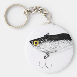 Señuelo de la pesca de los piscardos de los gancho llavero redondo tipo pin