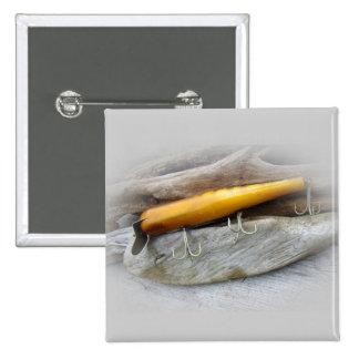 Señuelo de la pesca del agua salada del vintage de pin cuadrada 5 cm