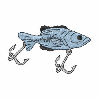 Señuelo de los pescados sudadera bordada