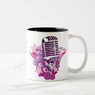 Señuelo del micrófono taza de café de dos colores