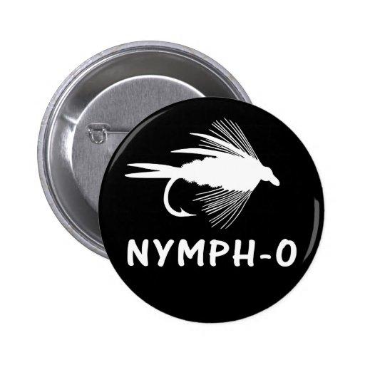 Señuelo divertido de la pesca con mosca de la Ninf Pin Redondo 5 Cm