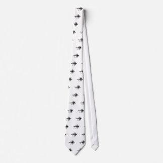 Señuelo negro de la pesca con mosca de Camo Corbatas Personalizadas
