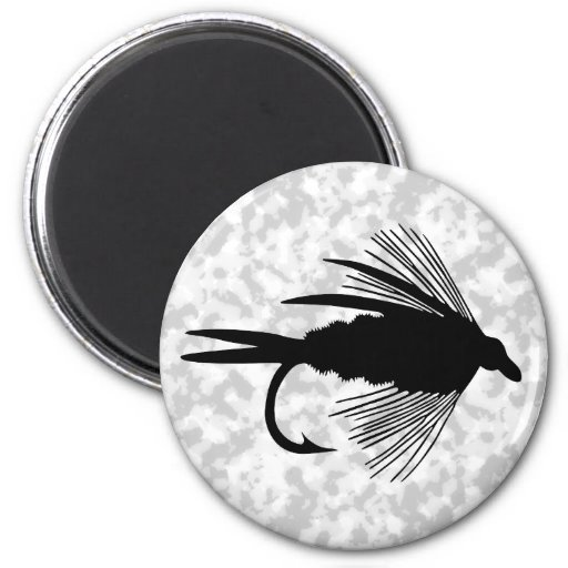 Señuelo negro de la pesca con mosca imán redondo 5 cm