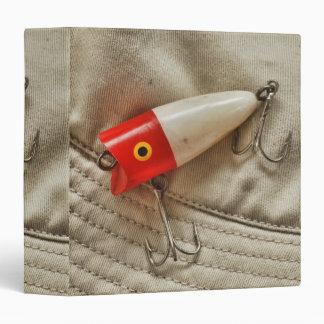 """Señuelo rojo y blanco 1,5"""" de la pesca álbum de fo carpeta 1 1/2"""""""