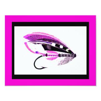 Señuelo rosado brillante de la pesca con mosca