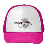 Señuelo rosado de la pesca con mosca de Camo Gorro De Camionero