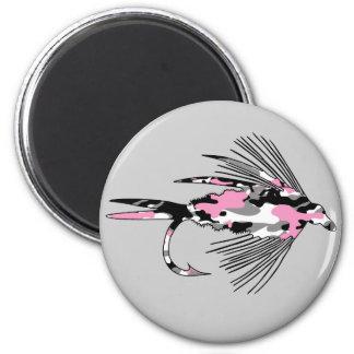 Señuelo rosado de la pesca con mosca de Camo Imanes Para Frigoríficos
